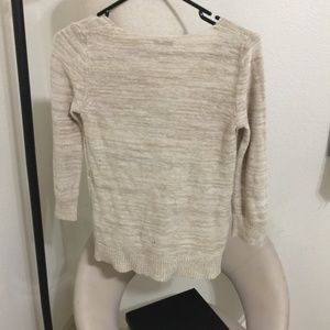 Old Navy Sweaters - Cream Crochet Knit Oversize Sweater